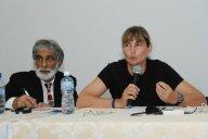 Daniel Da Silva et Me Catherine Choquette lors de la Conférence sur les bassins versants à Santo Amaro, Brésil