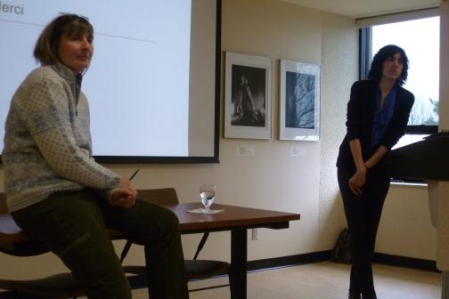 Kathryn Furlong, géographe de l'UdeM et Me Catherine Choquette au colloque annuel du SAGE à l'Université de Sherbrooke